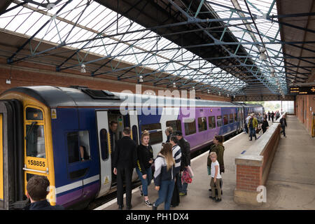 Beverley Railway Station in East Yorkshire - Stock Photo