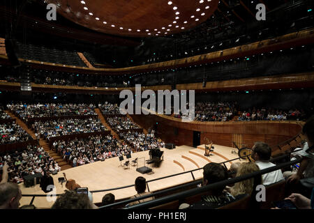 Main concert hall in site of the Polish National Radio Symphony Orchestra in Katowice. - Stock Photo