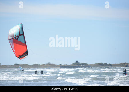 man on a kite buggy - Stock Photo