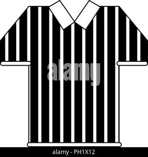 Referee tshirt isolated in black and white - Stock Photo