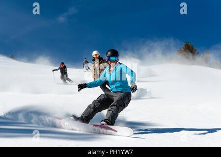 Spring skiing shoot mt rose ski tahoe - Stock Photo