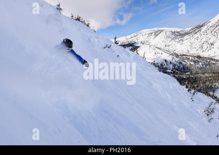 In the Chutes at Mt. Rose Ski Tahoe. - Stock Photo