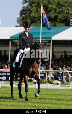 30th August 2018. Mark Todd (NZL) riding NZB Campino during the Dressage phase of the 2018 Land Rover Burghley Horse Trials in Stamford, Lincolnshire, United Kingdom. Jonathan Clarke/Alamy Live News - Stock Photo