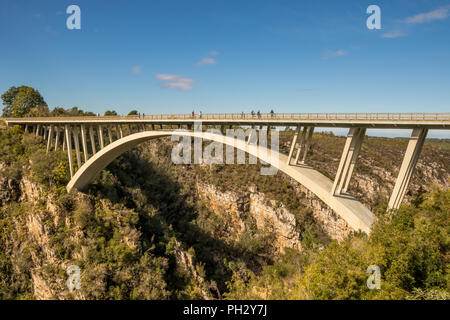 Tsitsikamma, South Africa - the Paul Sauer Bridge also known as the Storms River Bridge over the Storms River on the garden route - Stock Photo