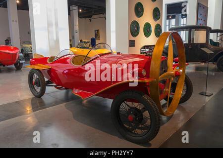 Museo Automovilistico y de la Moda, Malaga, Malaga Province, Spain.  Automobile and Fashion Museum.  Prototype of the propeller driven Helicron 2, bui