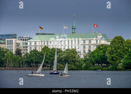 Aussenalster, Hotel Atlantic Kempinski, An der Alster, Hamburg, Deutschland - Stock Photo