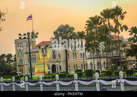 Bangkok, Thailand - March 2, 2017:  View of Thai Khu Fah building, the offices of the Prime Minister of Thailand and the appointed cabinet ministers. - Stock Photo