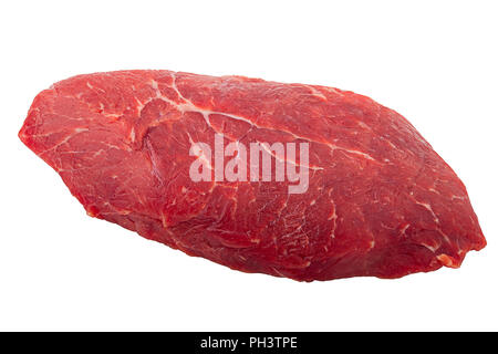 steak, ribeye isolated on white background, clipping path, full depth of field - Stock Photo