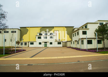 Farnborough historic buildings. Low speed wind tunnel and transonic wind tunnel buildings. Farnborough Business Park. Building restoration. R133 R136 - Stock Photo