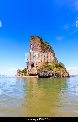 Tourist boats around Koh NokPhang Nga Bay, Thailand - Stock Photo