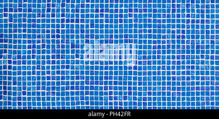 Blue Mosaic Tiles In Small Attic Bathroom With White Tiled