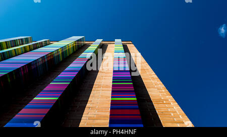 Colorful urban architecture lots of color, minimalist - Stock Photo