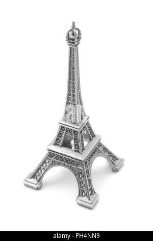 eiffel tower, miniature souvenir isolated on white - Stock Photo