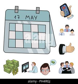 Business Conference And Negotiations cartoon icons in set collection for design.Business and training vector symbol stock  illustration. - Stock Photo