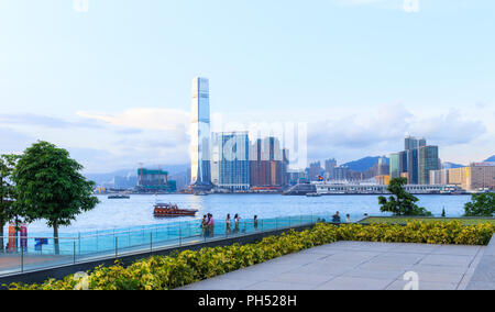 Hong Kong - August 01, 2018: Tamar Park - Stock Photo