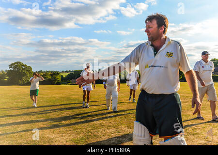 Blaksley - UK - 08/05/18 - Summer cricket in Northamptonshire - Blaksley - UK - Stock Photo