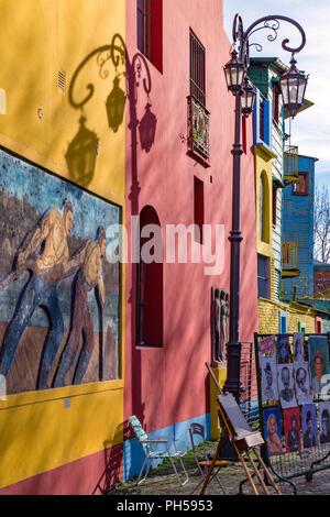 Caminito. La Boca, Buenos Aires, Argentina - Stock Photo