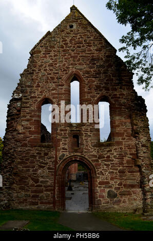 Ancient ruins of the Beauly Priory in Scotland. - Stock Photo