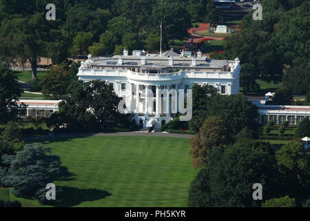 WASHINGTON, DC - AUGUST 29: Kremlin Annex is a nick-name commonly associated with The White House since its occupation by the 45th President of The Un - Stock Photo
