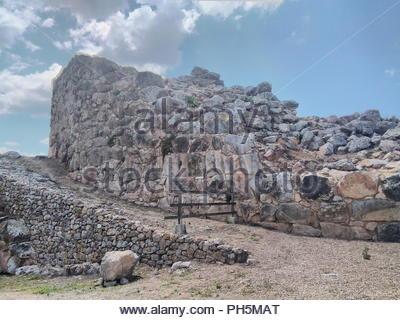 Greece, Peloponnese, the ancient citadel of Tiyrns. - Stock Photo