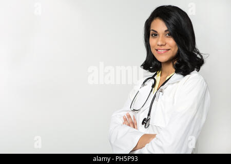 Diverse and empowered doctor ready for work. - Stock Photo