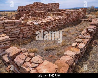 Anasazi pueblo, Edge of the Cedars State Park and Museum, Blanding, Utah. - Stock Photo