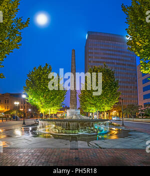 Vance Monument in downtown Asheville, North Carolina, NC, USA - Stock Photo