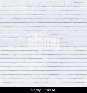 White brick wall. Seamless texture and background - Stock Photo