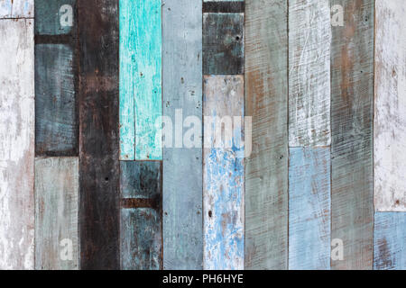 Wooden wall multicolor texture background - Stock Photo