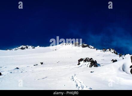 Mountain landscape with snow. Snow in the mountains. Mountain la - Stock Photo
