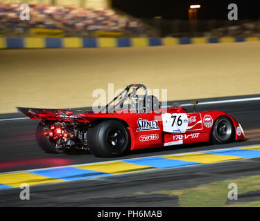 Carlos Barbot, Lola T280 DFV, Plateau 6, Grid 6, 1972-1981 cars, Le Mans Classic 2018, July 2018, Le Mans, France, circuit racing, Classic, classic ca - Stock Photo
