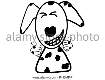 dalmatian dog cartoon in action very good  on white background - Stock Photo