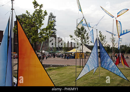 Event extra layer, Colliery Ewald, Herten, Germany - Stock Photo