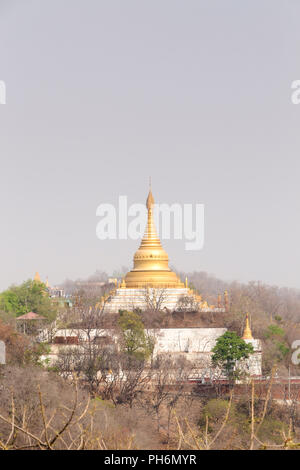 Sagaing hill stupa, Mandalay, Myanmar - Stock Photo
