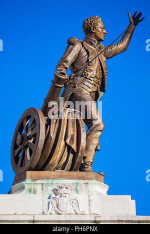 SANTANDER, SPAIN - MAY 2, 2013. Sculpture by Pedro Velarde y Santillán erected in Santander (Cantabria, Spain) 'Santander to the glory of the hero, 18 - Stock Photo