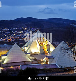 The Sauerland Pyramids in Meggen in Lennestadt. - Stock Photo