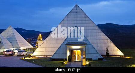 The Sauerland Pyramids in Meggen in Lennestadt. - Stock Photo