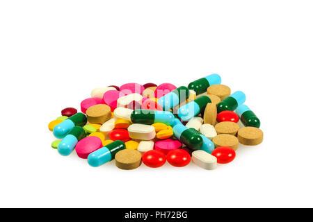 Pile of various pills - Stock Photo