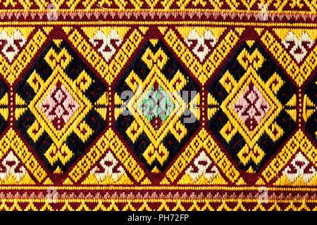 Ancient thaii woven cloth - Stock Photo