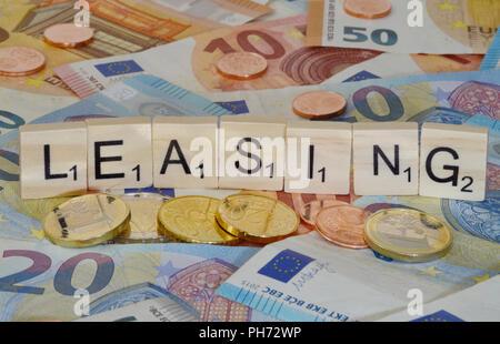 Symbolfoto Wirtschaftsbegriff Leasing - Stock Photo
