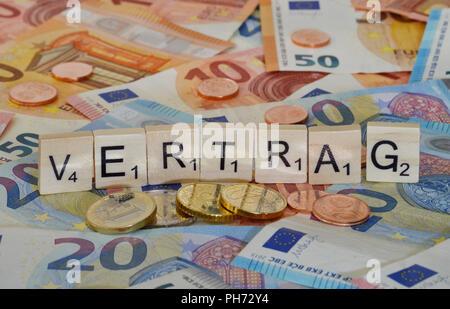Symbolfoto Wirtschaftsbegriff Vertrag - Stock Photo