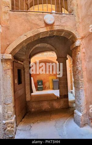 Traboule .Saint Jean District, Unesco World Heritage Site, Old Lyon, Rhône Alpes, France - Stock Photo