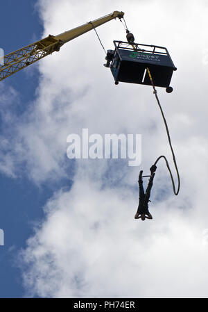 Bungee Jumping, Oberhausen, Germany - Stock Photo