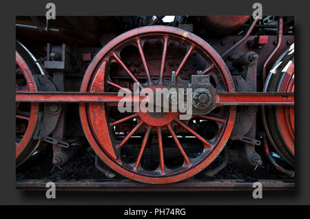 Steam Locomotive detail with frame - Stock Photo