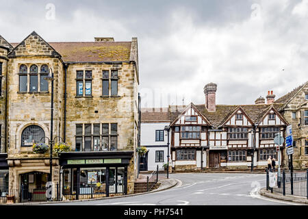 East Grinstead (Sussex, England): Clarendon House in Tudor Style - Stock Photo