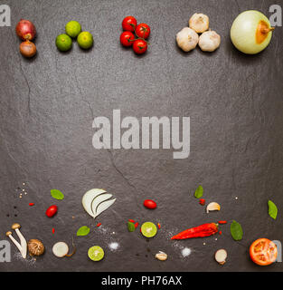Spices and vegetable for healthy and cooking. - Stock Photo