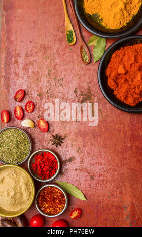Tomatoes, cooked with herbs on the old wooden. - Stock Photo