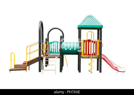 children playground on white isolated background with clipping path. - Stock Photo
