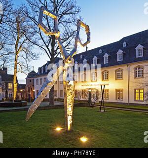 scissors sculpture in front of the German Blade Museum, Solingen, Germany - Stock Photo