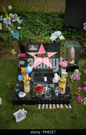Grab, Dirk Bach, Melaten-Friedhof, Aachener Strasse, Lindenthal, Koeln, Nordrhein-Westfalen, Deutschland - Stock Photo
